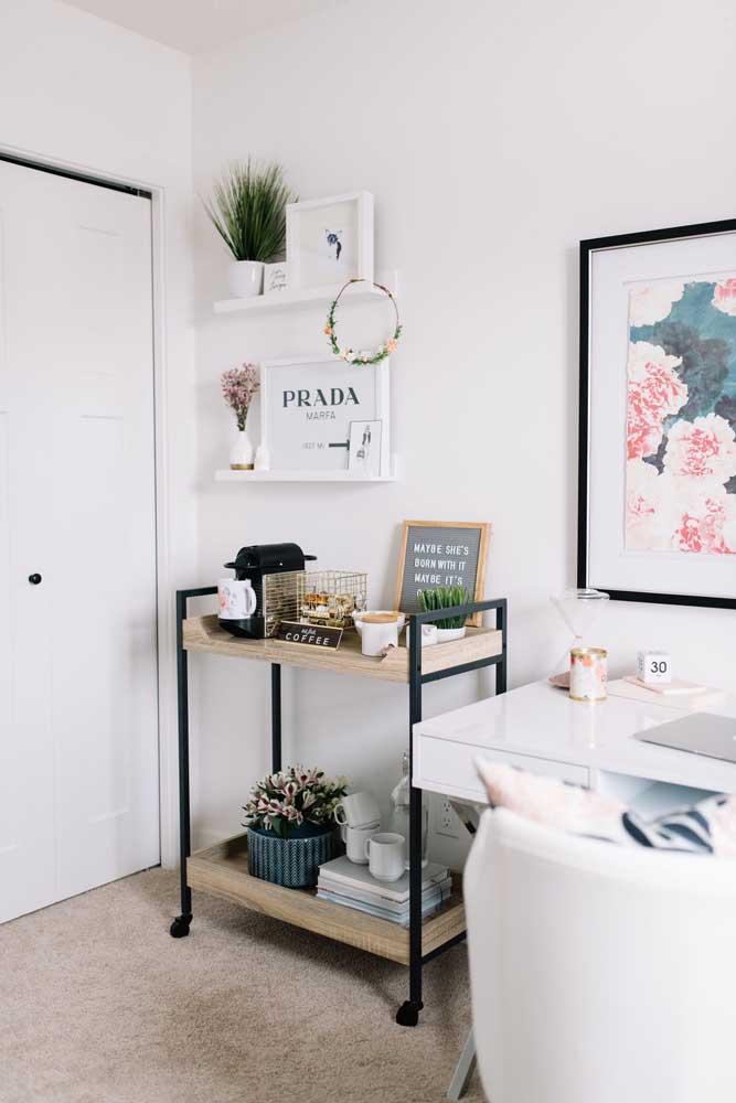 Que tal um cantinho do café no seu home office para ficar mais à vontade na hora de trabalhar?