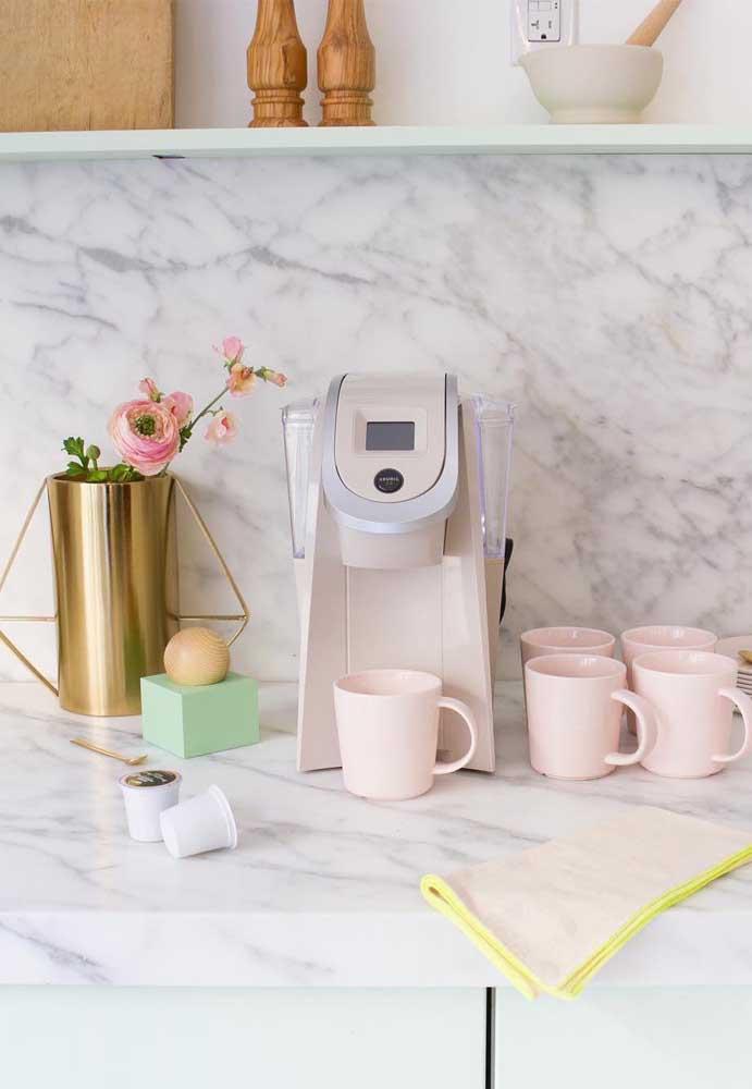 Ás vezes você só precisa de uma boa máquina de café separado em um cantinho.