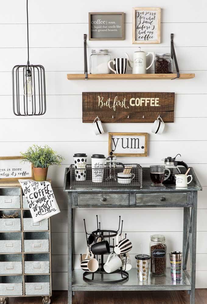 Já sabe o local que você vai colocar o cantinho do café?