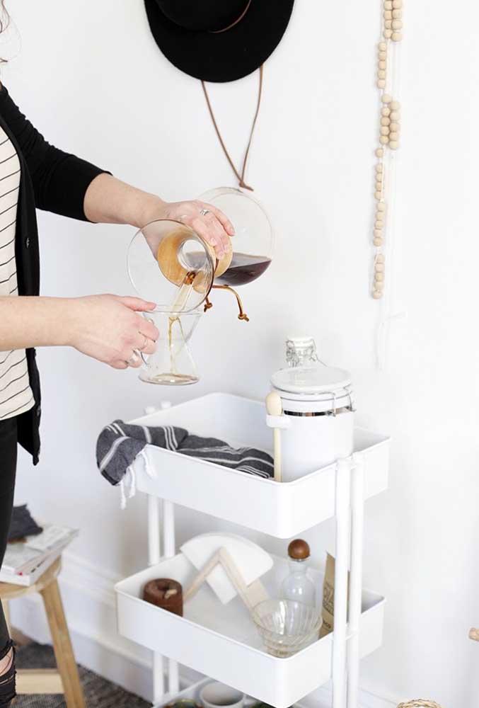 Até aquele carrinho mais simples pode ser o cantinho do café.