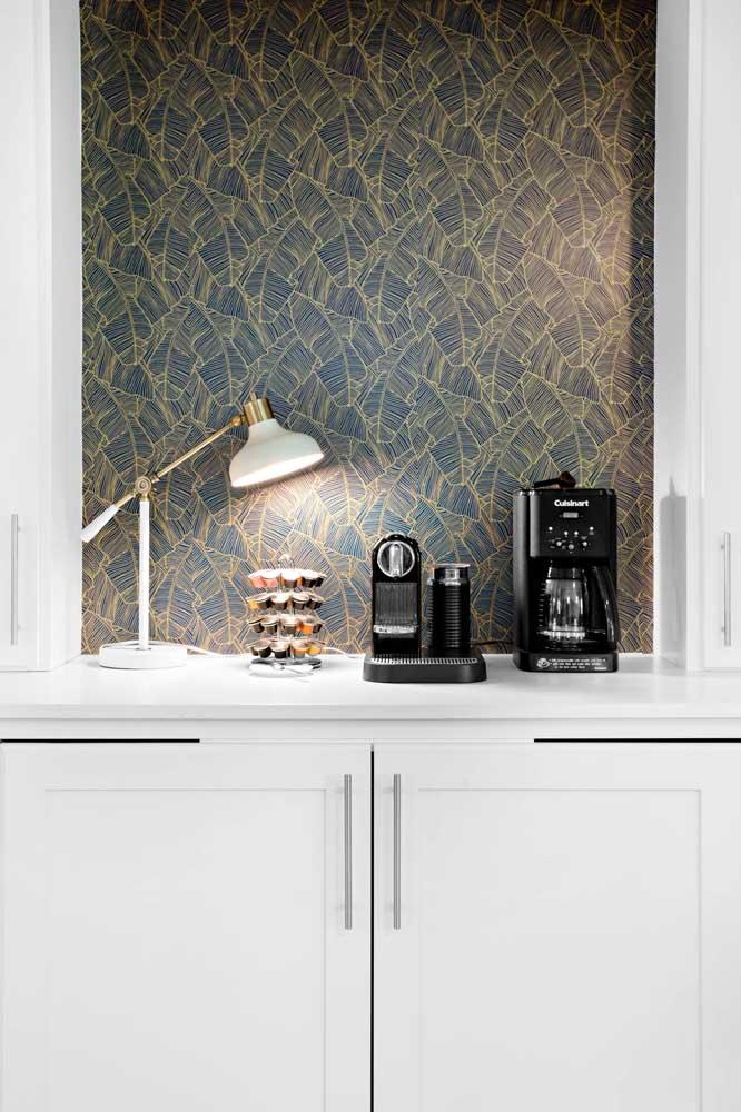 Ou no aparador da sala de jantar para algo mais sofisticado.