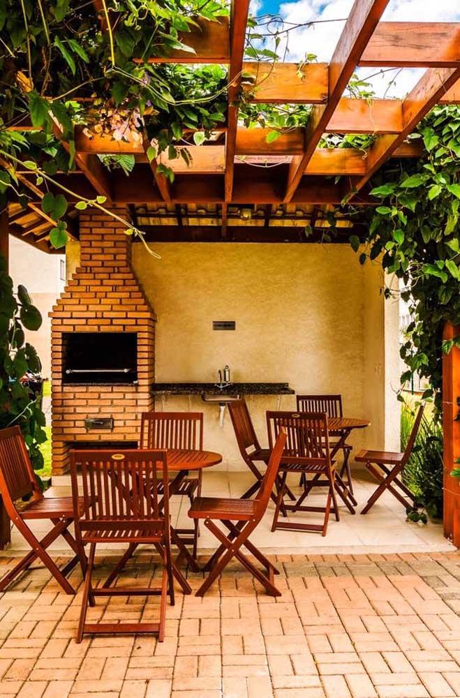 O modelo de churrasqueira de tijolo simples ainda é o mais procurado.