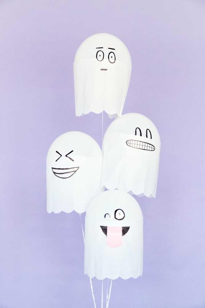 Fantasminhas engraçados para animar a festa.