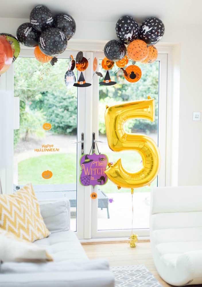 Que tal comemorar o aniversário de 5 anos com o tema Halloween?