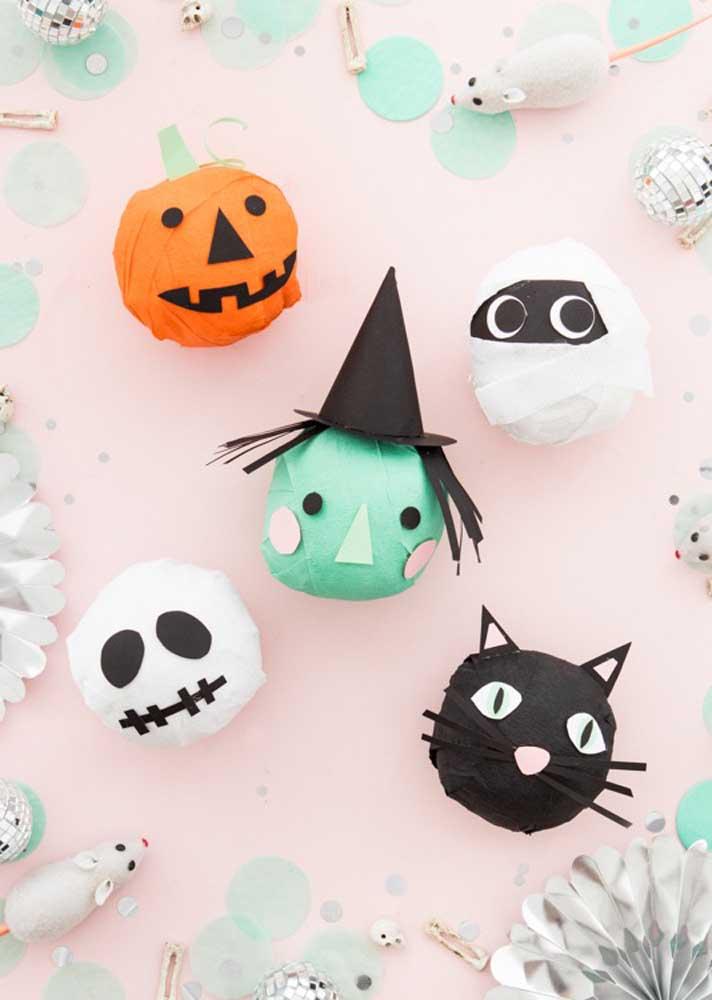 Com materiais baratos é possível criar elementos decorativos para sua festa Halloween.