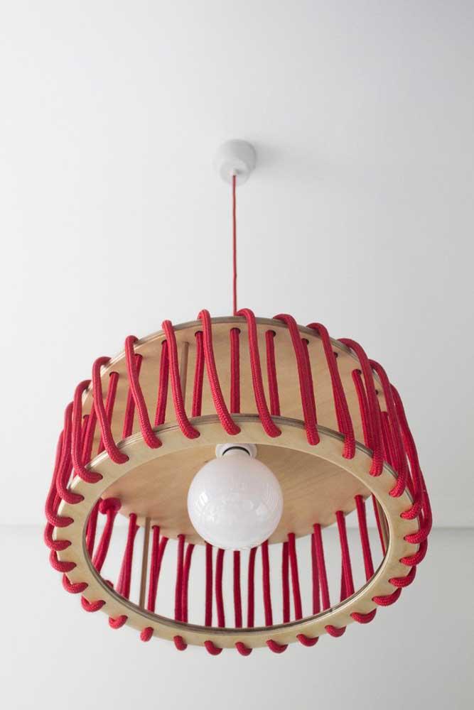 Você já sabe qual o tipo de fio que vai usar para fazer a luminária?