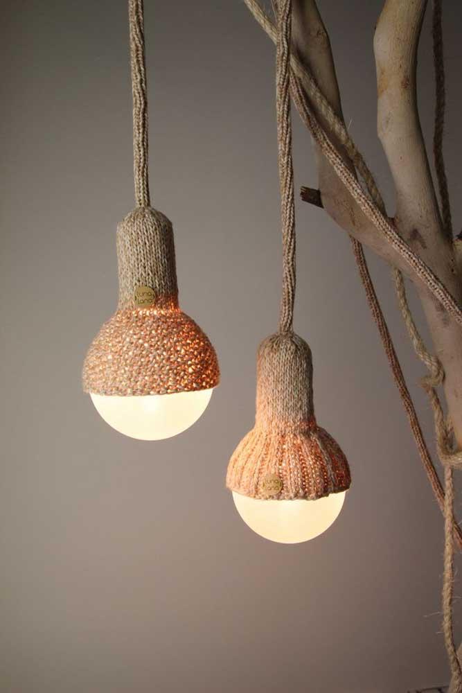 Quer fazer uma luminária para combinar com o ambiente rústico?