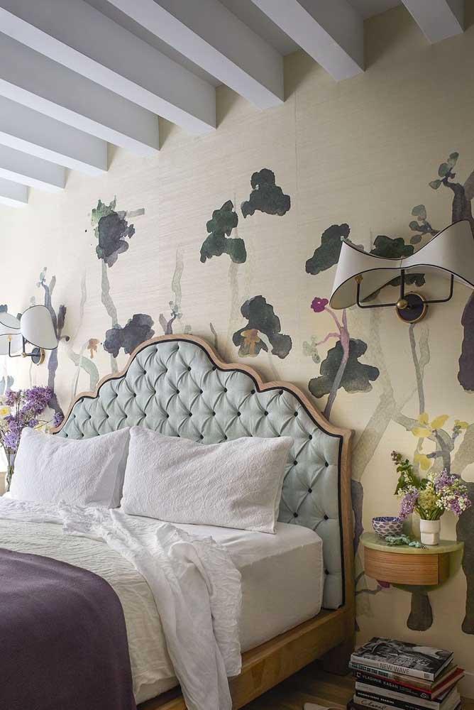 Olha que papel de parede lindo para colocar no quarto.