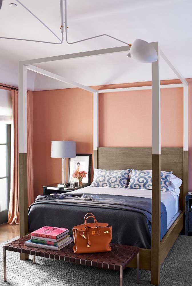 Você pode fazer uma mistura de cores na decoração do seu quarto.