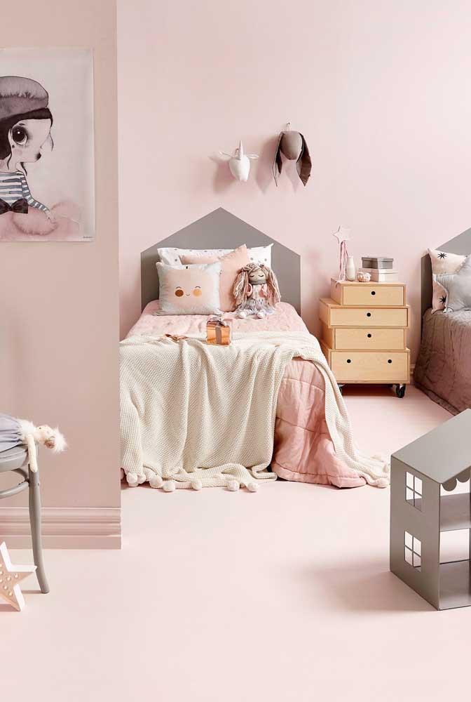 Mais uma opção de decoração para quarto infantil feminino.