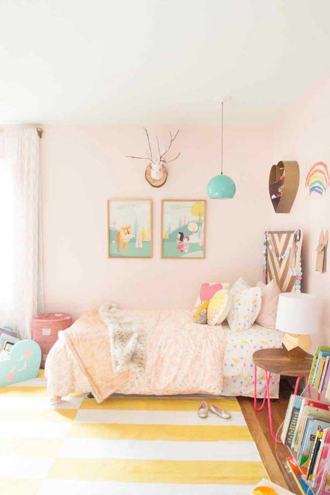Olha que quarto infantil feminino mais fofo.