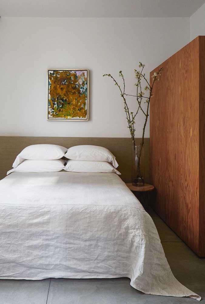 Um quarto simples e confortável já ajuda bastante.