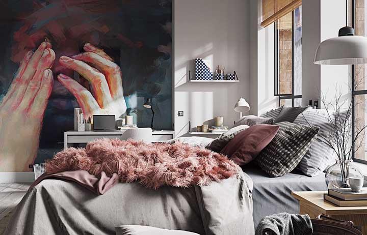 Um belo quadro pode fazer toda a diferença na decoração do seu quarto.