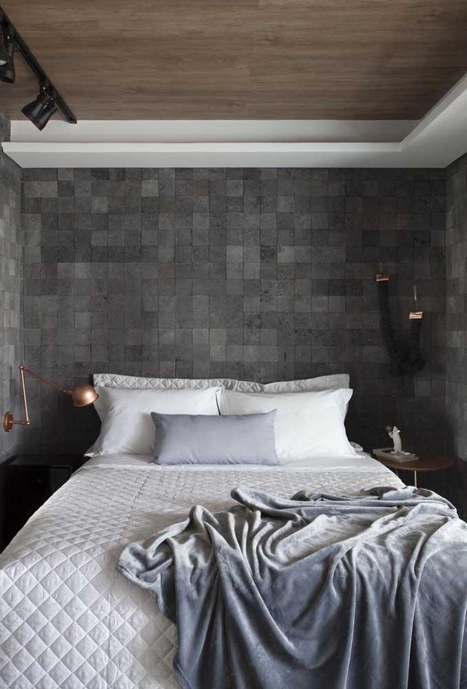 Quer fazer diferença na decoração de quarto pequeno? Escolha um revestimento para chamar atenção.