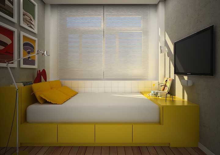 Que tal esse quarto pequeno decorado para você se inspirar?