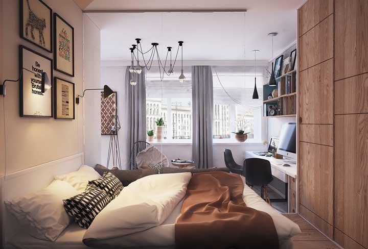 Veja que bela decoração você pode fazer no quarto pequeno.