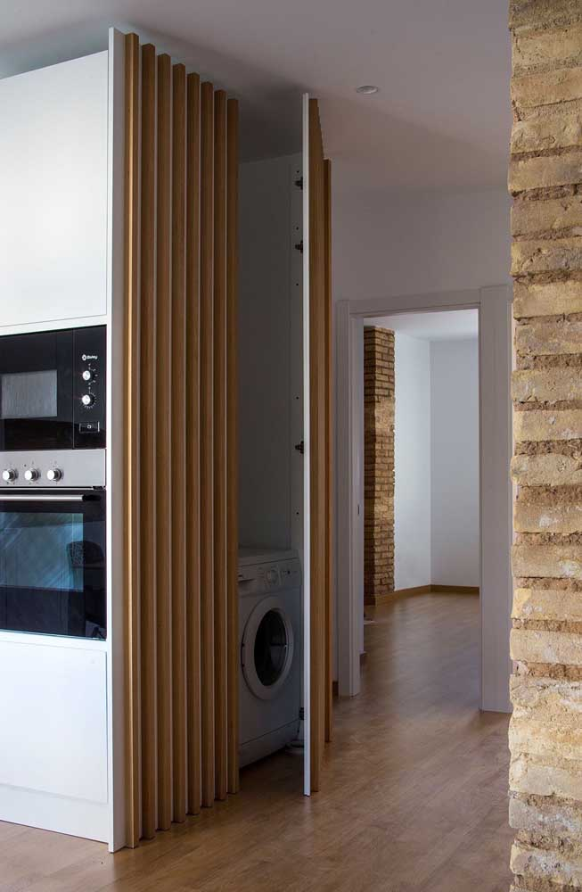 Separe um cantinho na sua casa para montar a área de serviço pequena.