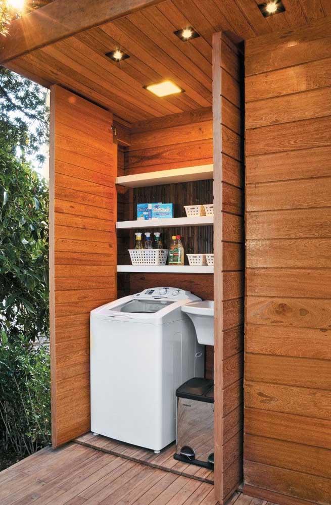 Que tal fazer uma área de serviço pequena externa na sua casa?