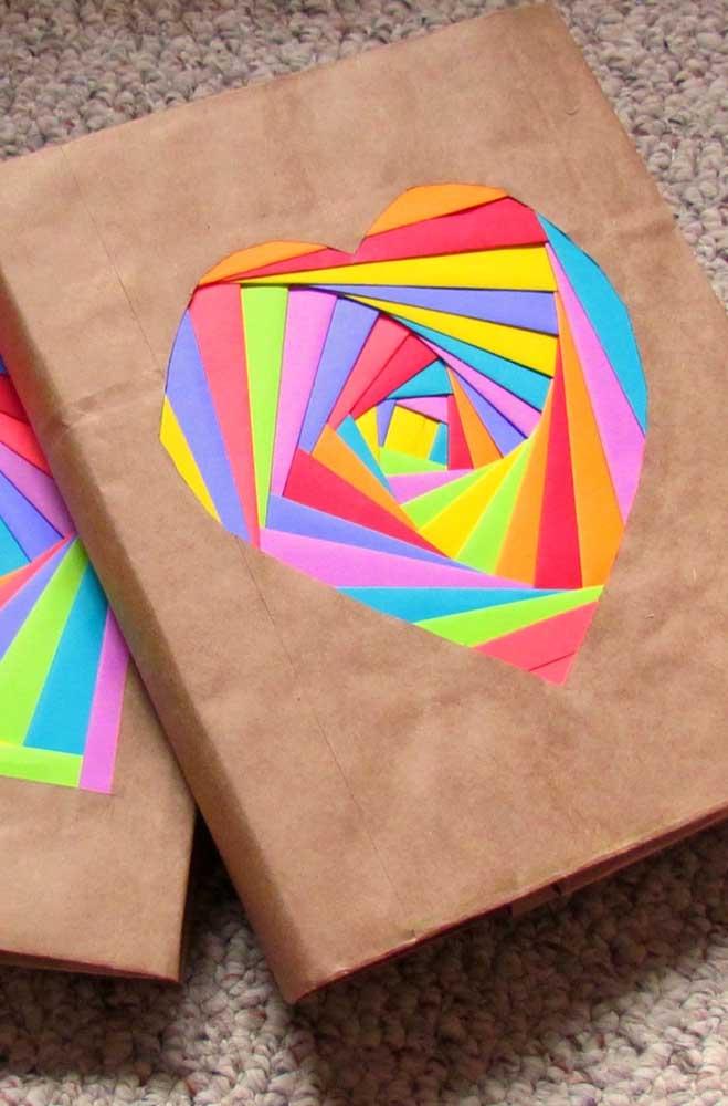 Veja que embalagem linda feita com papel e EVA.