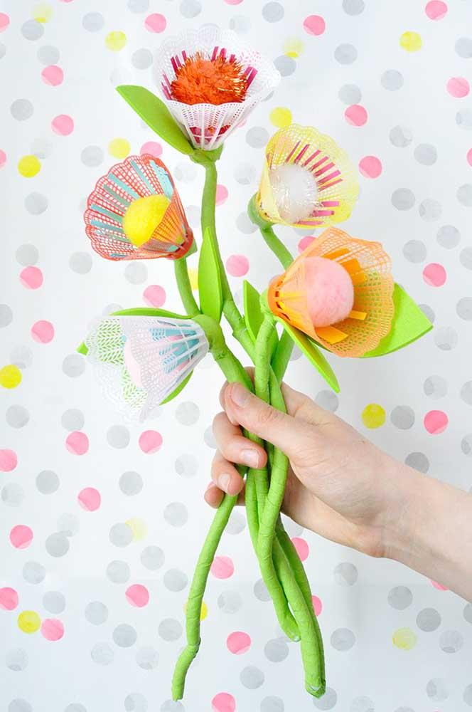 Você acredita que essas flores foram feitas com EVA?