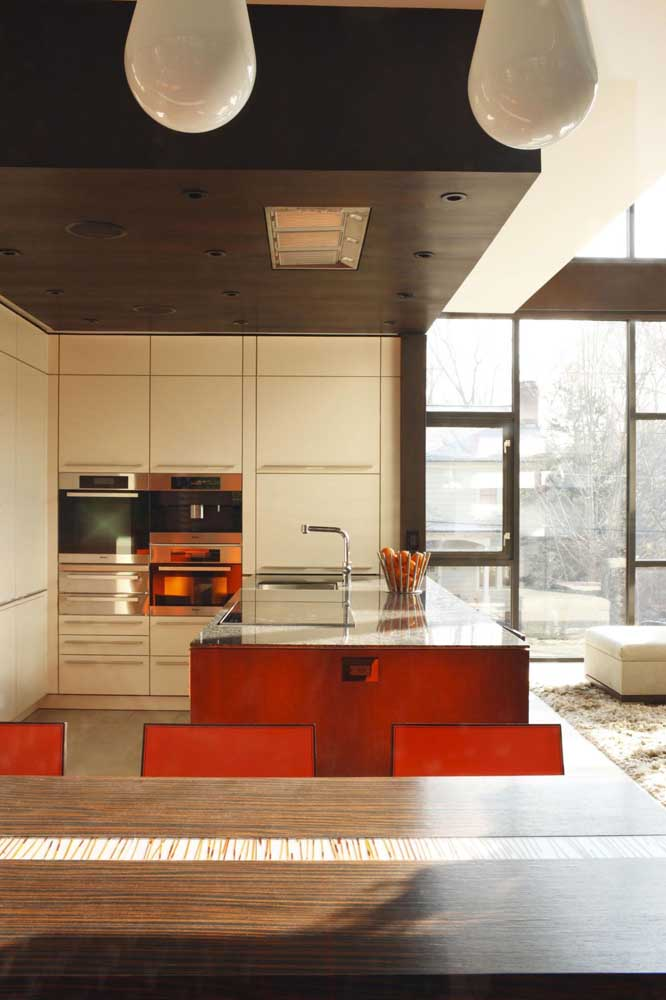 Saiba escolher adequadamente os móveis da cozinha americana com sala.