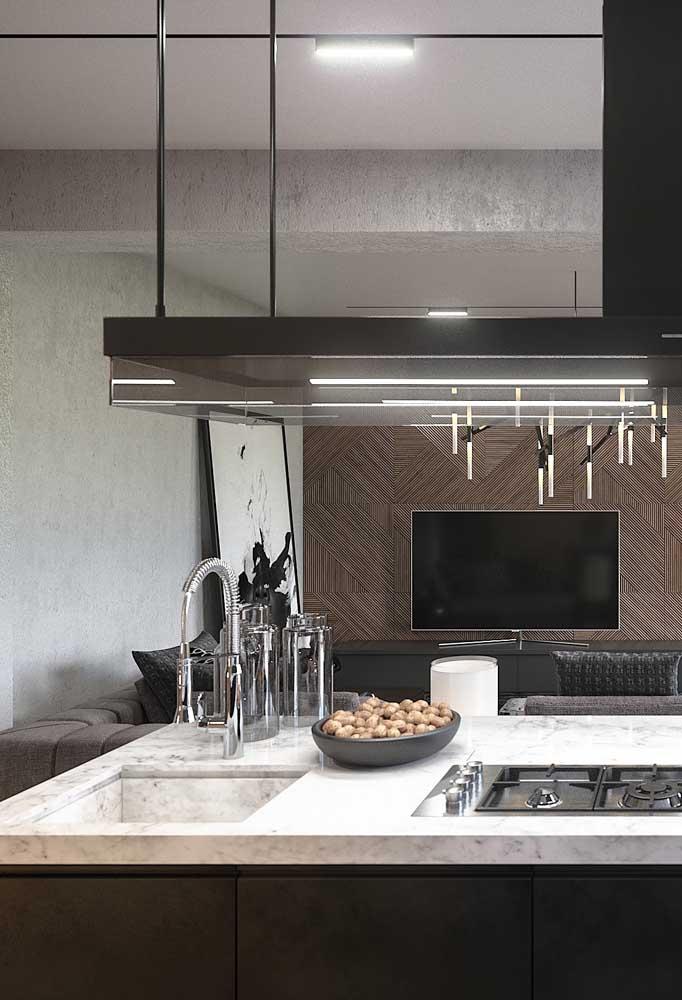 Na bancada pode ser instalado o fogão da sua casa.