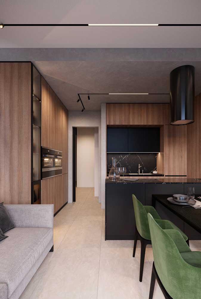 Que integrar em um mesmo espaço a cozinha americana com sala de jantar e estar?