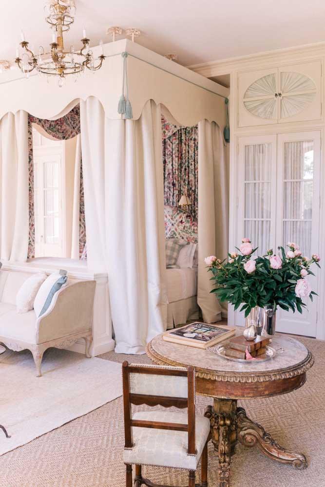 Olha que decoração provençal rústica mais linda para o quarto.