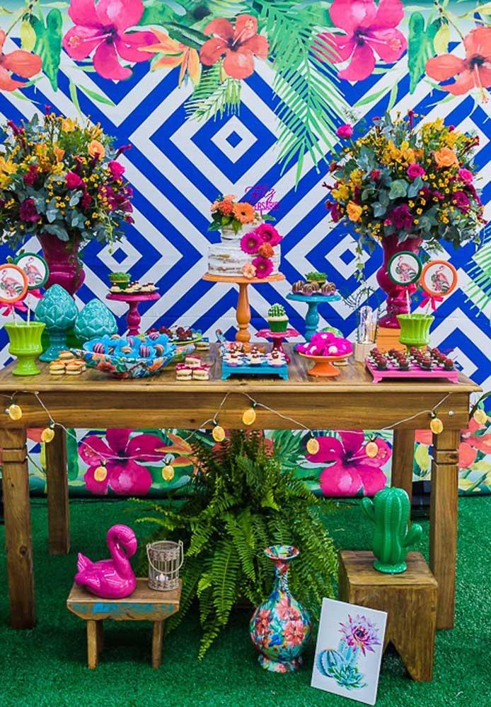 Uma festa flamingo colorida pode ser tudo o que você precisa.