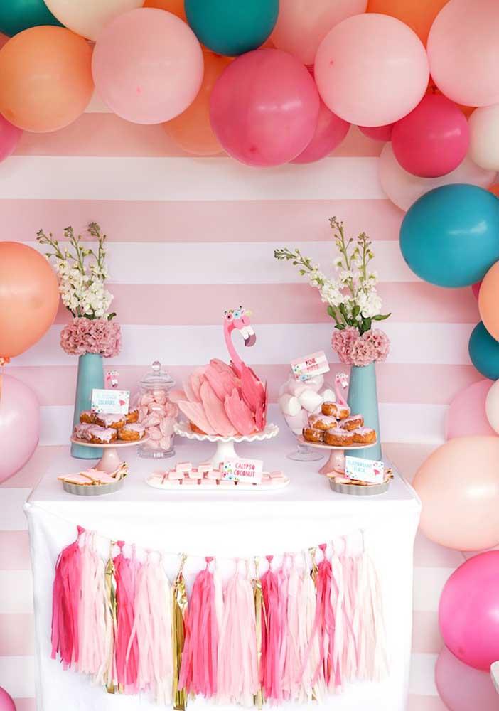 Você já sabe como vai fazer a decoração tema flamingo?