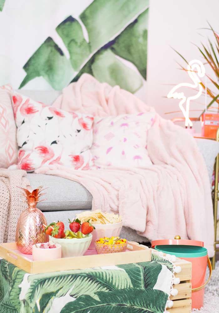 Prepare um espaço confortável para os convidados interagirem entre si e deixe-os à vontade.