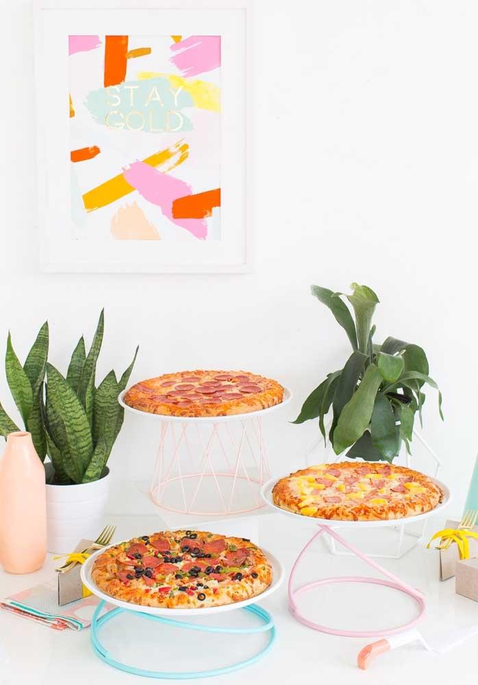 Olha que mesa posta noite da pizza para você se inspirar.