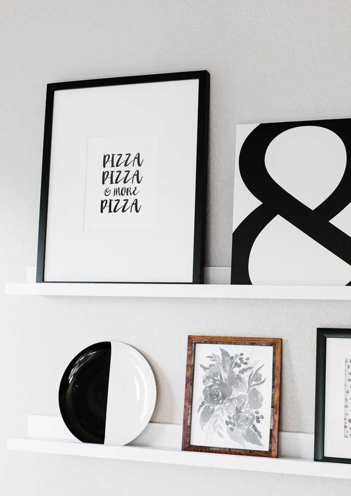 Olha que decoração mais moderna e elegante para sua noite de pizza.