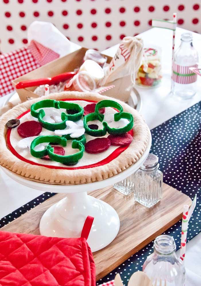 Já pensou em distribuir pizzas como lembrancinha da festa?