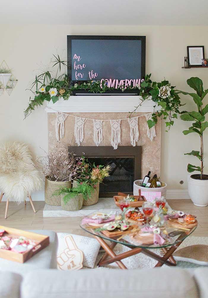 Na noite da pizza você pode decorar o ambiente do seu jeito, desde que os convidados se sintam à vontade.