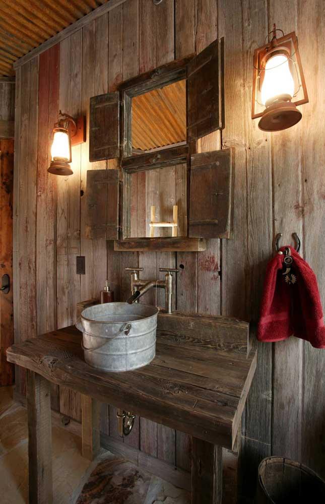 Já pensou em ter uma casa totalmente rústica?