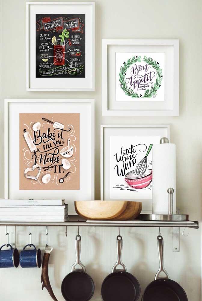 Que tal apostar em quadros criativos para cozinha?