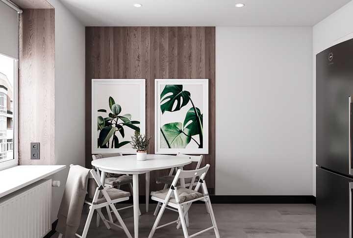 As plantas deixam o ambiente mais vivo, então, use quadros com plantas na sua cozinha.