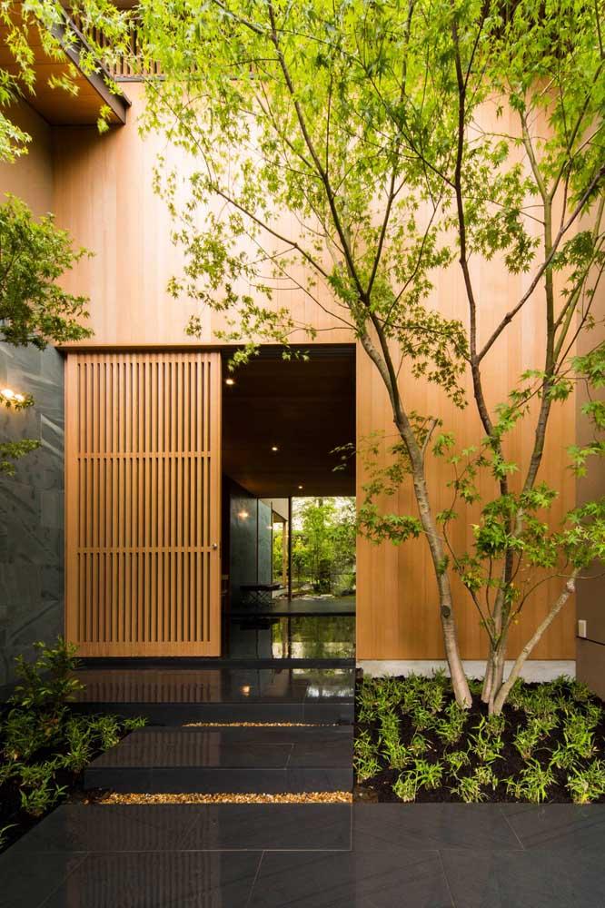 O que acha de montar o jardim japonês na entrada da casa?