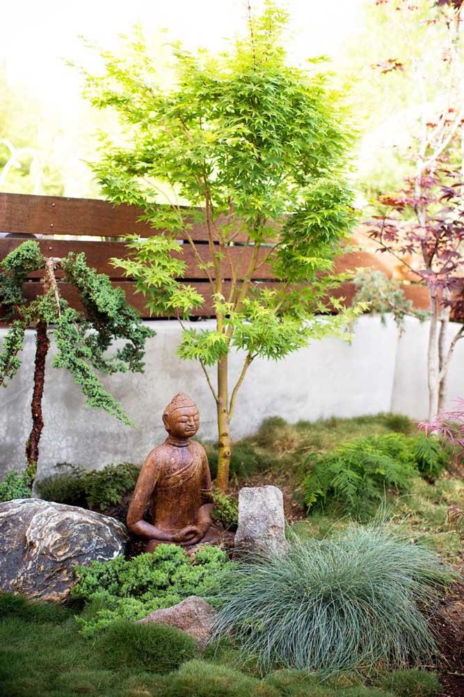 O jardim japonês é um espaço espiritual que transmite muita paz.