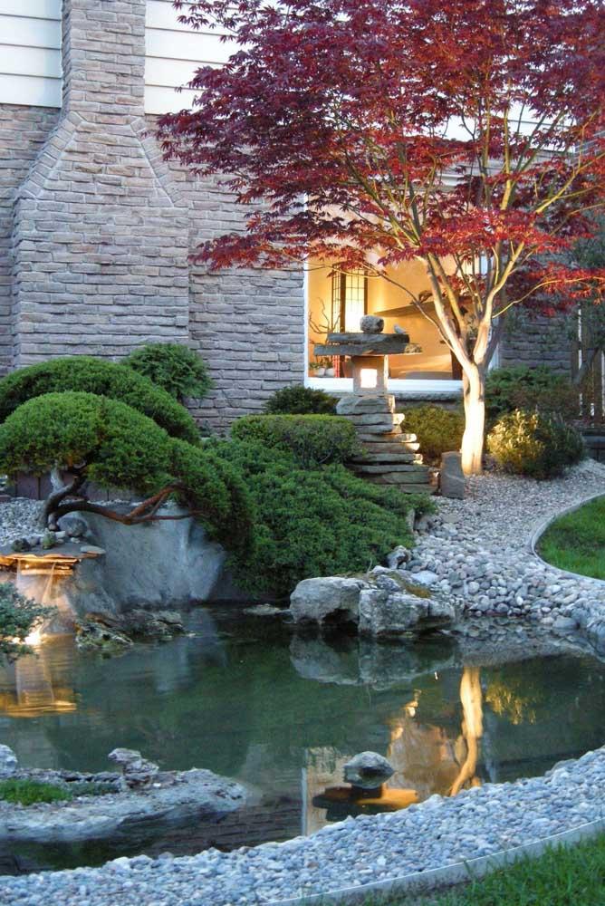Uau! Que jardim japonês mais luxuoso e lindo!