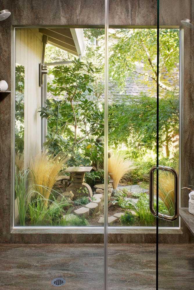 Você acredita que é possível fazer jardim japonês no banheiro?
