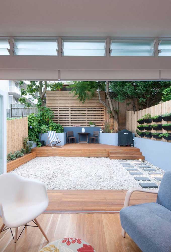O jardim japonês pode ser usado como separação de espaço.