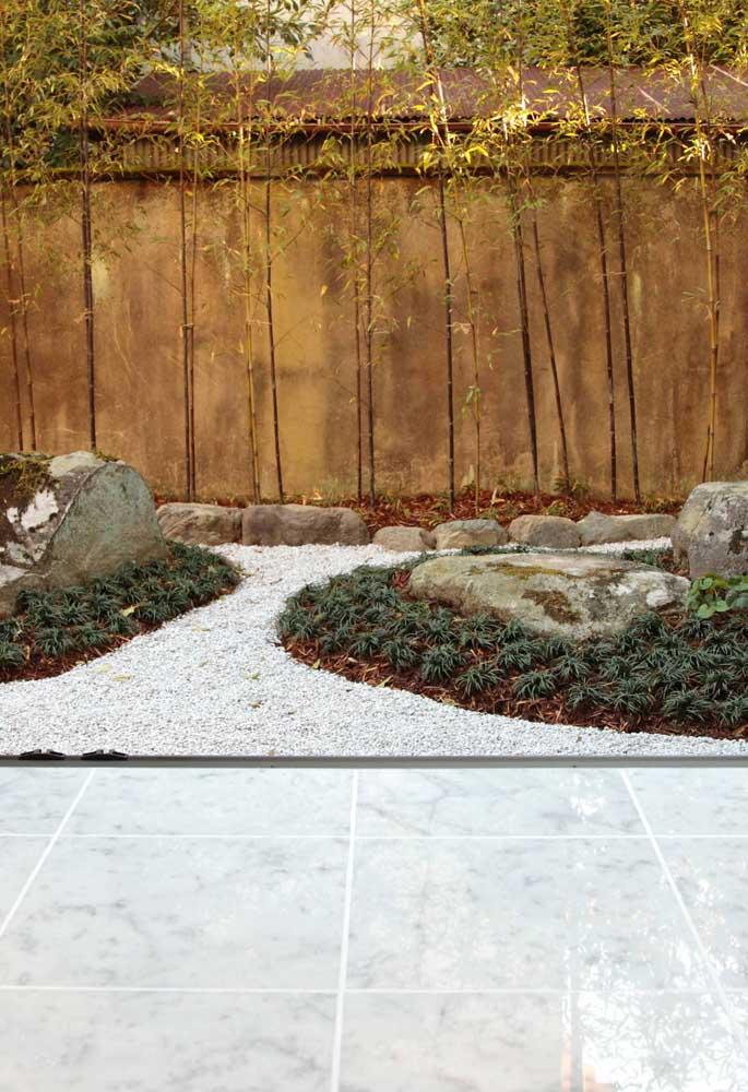 Ter um jardim japonês em casa é sinônimo de um lugar relaxante.