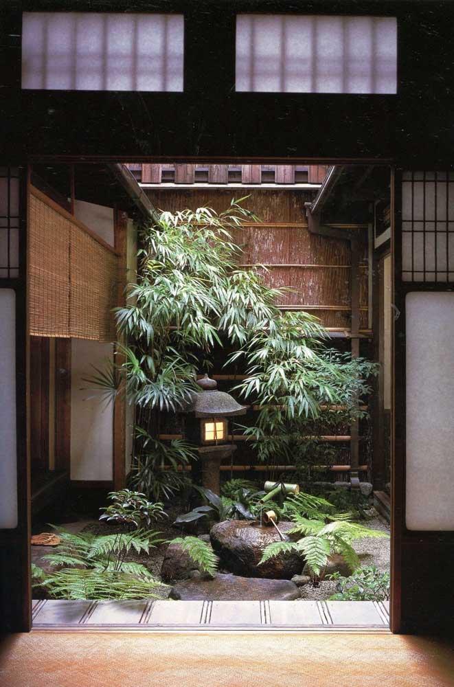 Use e abuse da criatividade na hora de fazer o jardim japonês.