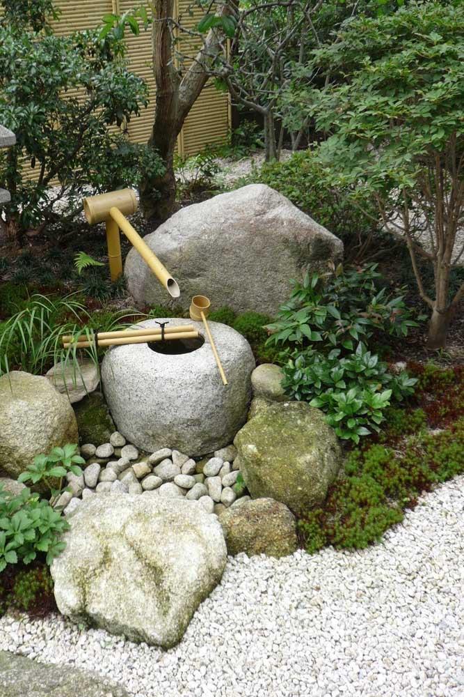 O jardim japonês apresenta uma estética incrível.