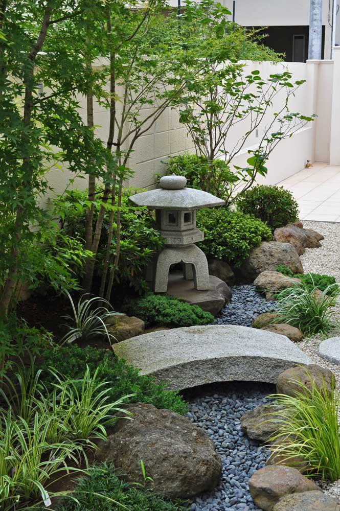 O jardim japonês é um lugar de paz e tranquilidade.