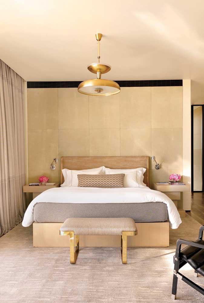 Olha que quarto de casal simples e bonito.