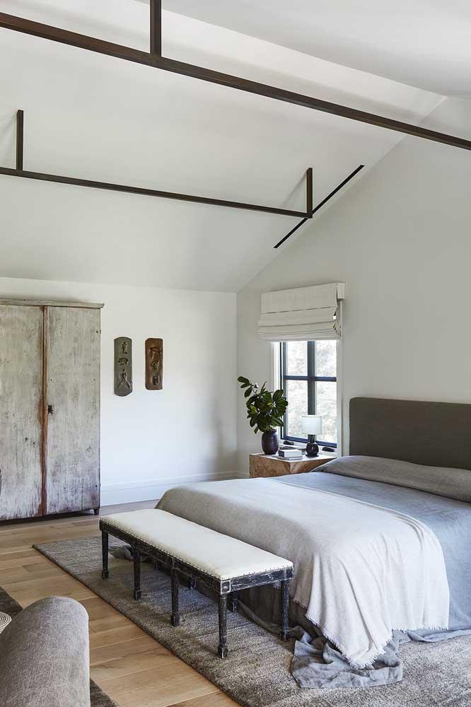 Quem não gostaria um quarto espaçoso e aconchegante?
