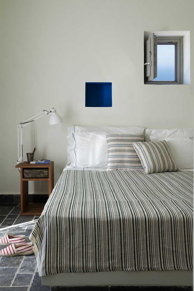 O charme da roupa de cama quadriculada.